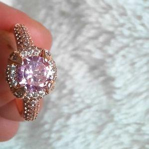 Stunning Rose Gold Ring 925 Silver